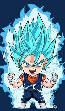 Vegeta SSJ Blue Wallpaper Art screenshot 10