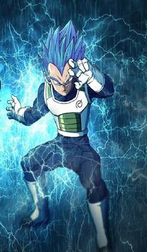 Vegeta SSJ Blue Wallpaper Art screenshot 11