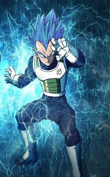 Vegeta SSJ Blue Wallpaper Art screenshot 7
