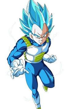Vegeta SSJ Blue Wallpaper Art screenshot 4