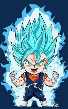Vegeta SSJ Blue Wallpaper Art screenshot 6