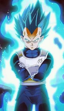 Vegeta SSJ Blue Wallpaper Art screenshot 9