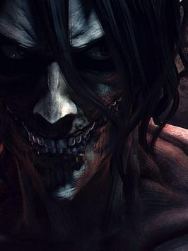 Eren Jaeger Titan Wallpaper Art Poster Screenshot 1
