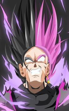Goku Black Wallpaper Art screenshot 2