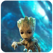 Baby Groot Wallpaper Art icon