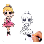 How to draw Cute Girl icon