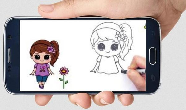 How to draw Cute Girl poster