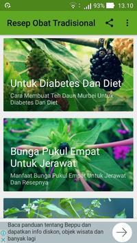 Ramuan Resep Obat Herbal Tradisional Lengkap poster