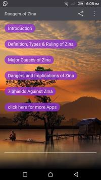 Dangers of Zina poster