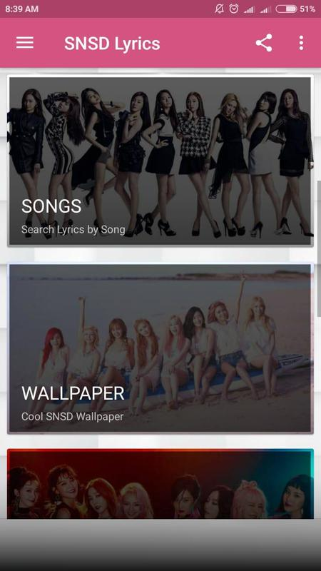 Snsd Lyrics For Android Apk Download