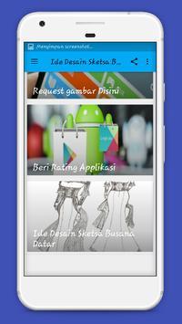 Ide Desain Sketsa Busana Datar screenshot 1