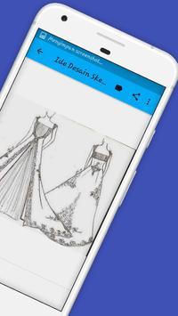 Ide Desain Sketsa Busana Datar screenshot 5