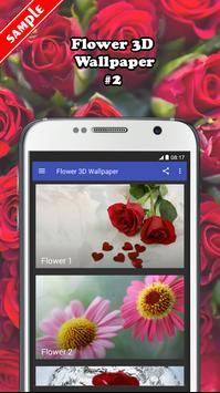 Flower 3D Wallpaper screenshot 1