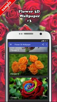 Flower 3D Wallpaper screenshot 2