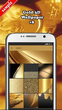 Gold 3D Wallpaper screenshot 7
