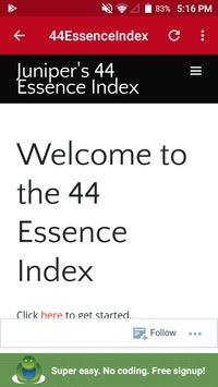 44 Essence Index poster