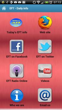 EFT - Daily info poster