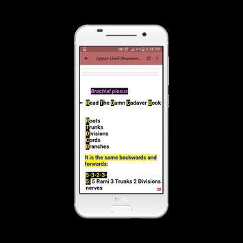 Upper Limb Mnemonics screenshot 1