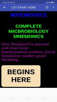 Microbiology Mnemonics poster