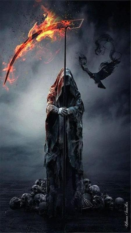 Grim Reaper Wallpaper Art Plakat ...