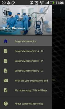 Surgery Mnemonics poster