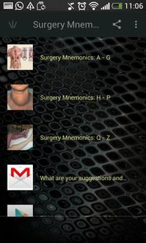 Surgery Mnemonics screenshot 1