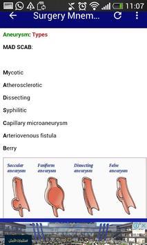Surgery Mnemonics screenshot 2