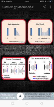 Cardiology Mnemonics, ECG, Heart Sounds & Murmurs screenshot 1