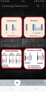 Cardiology Mnemonics, ECG, Heart Sounds & Murmurs screenshot 7