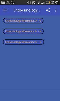 Endocrinology Mnemonics screenshot 1