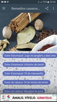 Remedios caseros y naturales poster