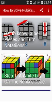 How to Solve Rubik's Cube 3x3 poster