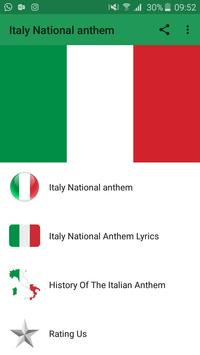 Italy National anthem poster