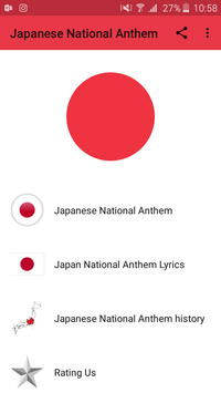 Japanese National Anthem poster