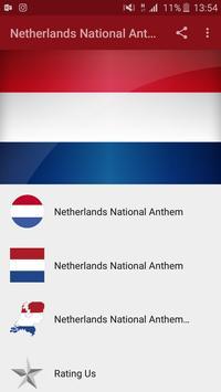 Netherlands National Anthem poster