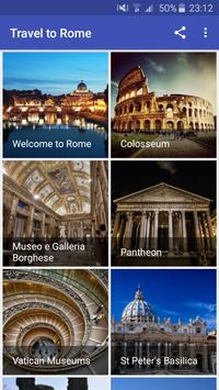 Travel to Rome poster