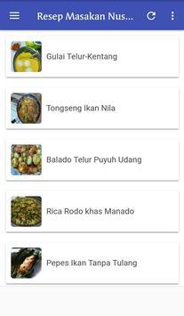 Resep Masakan Nusantara Terlengkap poster