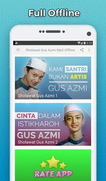 Sholawat Gus Azmi Mp3 Offline - Santri Bukan Artis screenshot 1