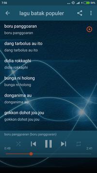 Lirik lagu Daerah Batak Offline apk screenshot