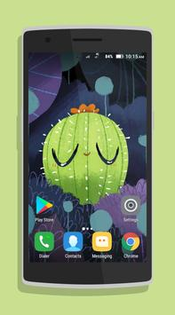 Cute Cactus Wallpaper poster