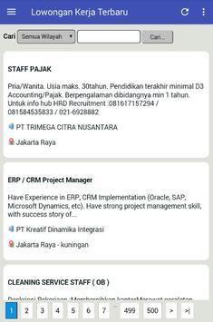 10 Juta Lowongan Kerja Seluruh Kota di Indonesia apk screenshot