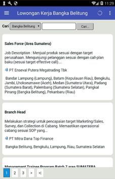 Lowongan Kerja Bangka Belitung screenshot 1