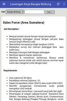 Lowongan Kerja Bangka Belitung screenshot 2