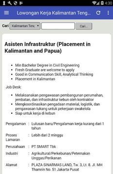 Lowongan Kerja Kalimantan Tengah Terbaru apk screenshot