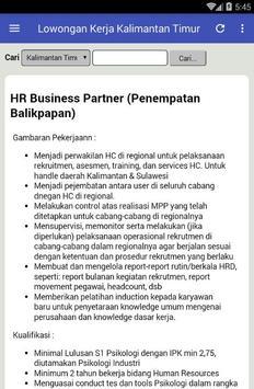 Info Lowongan Kerja Kalimantan Timur  Terlengkap apk screenshot