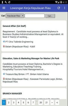 Lowongan Kerja Kepulauan Riau (KEPRI) Terbaru screenshot 1