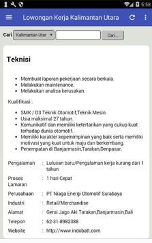 Lowongan Kerja Kalimantan Utara Terbaru screenshot 5
