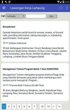 Lowongan Kerja di Lampung Terbaru dan Terlengkap apk screenshot