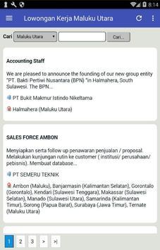Lowongan Kerja di Ternate & Maluku Utara Terbaru apk screenshot