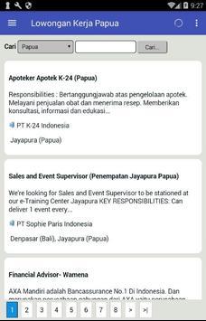 Lowongan Kerja Papua Terbaru screenshot 1